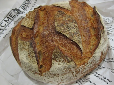 This sourdough is made with a wild yeast starter instead of traditional baker's yeast.